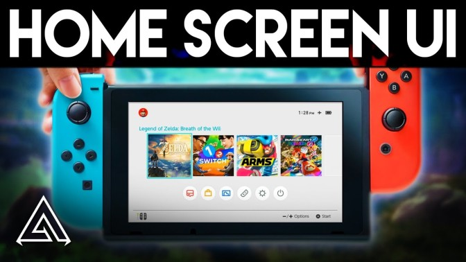 Nintendo Switch : Aperçu du menu Home