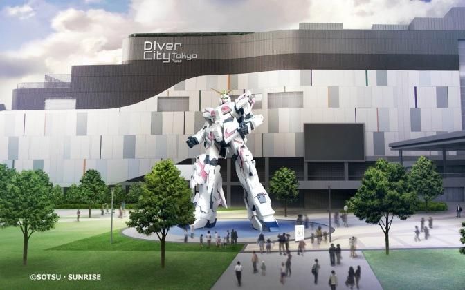 Concept Art du nouveau Gundam d'Odaiba