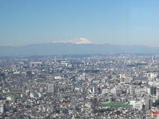 Superbe vue sur le Mont Fuji, photo prise le 9 mars à l'observatoire nord de la mairie à Shinjuku