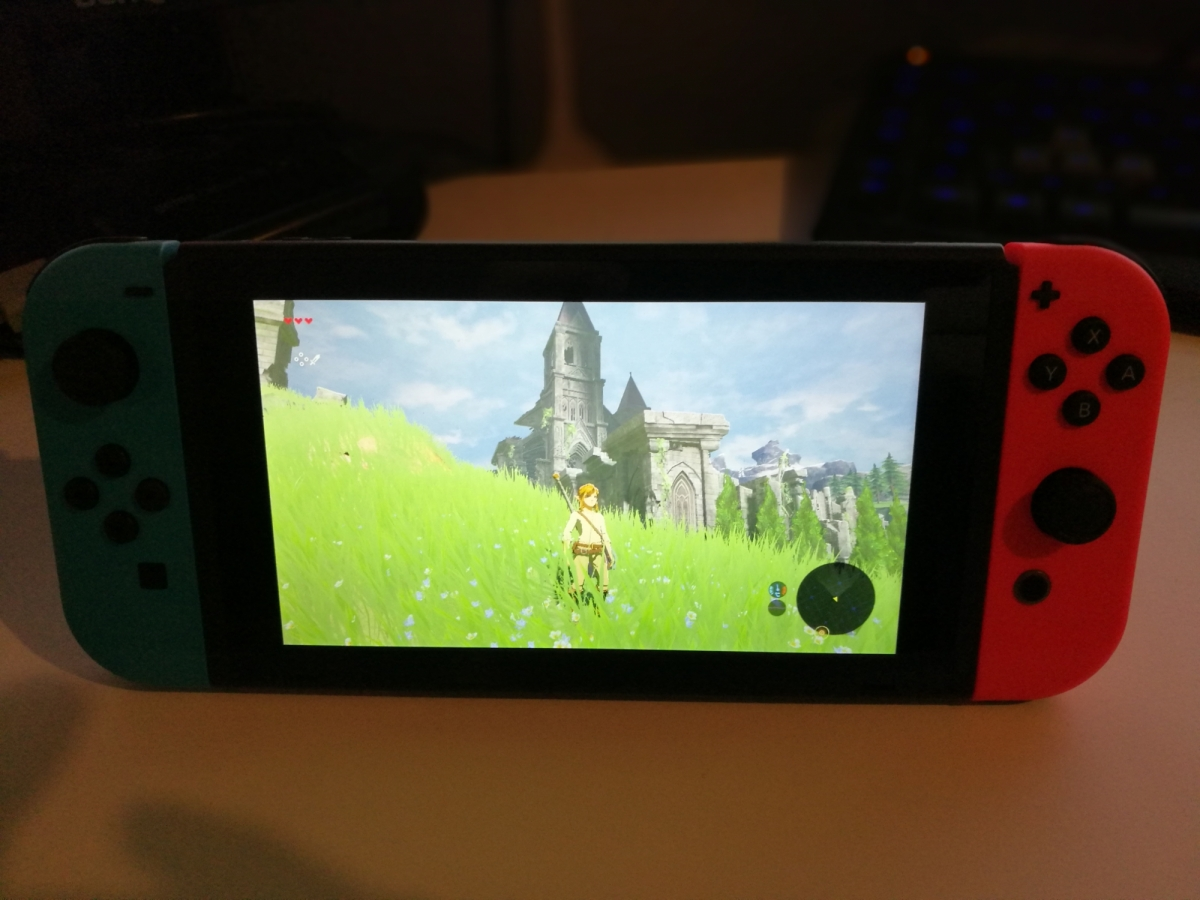 Photos maison : Nintendo Switch + Zelda Collector