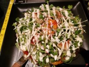 Pas une mais trois aujourd'hui, de succulents okonomiyaki au restaurant ZEN à Shinjuku A ne pas louper