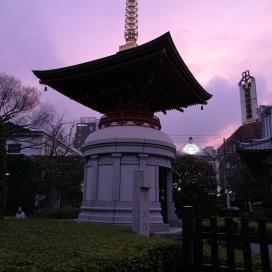 Asakusa, le soir, coucher de soleil, magnifique au Senso-ji