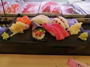 Exemple de sushis que l'on a manger à Tokyo, ici à Sushizanmai