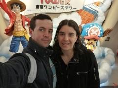 Ce jour là on a fait la connaissance de Chopper et Luffy à la Tokyo Tower.