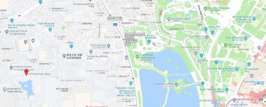 L'université TODAI est proche du Parc Ueno, faisable à pieds, de jolis endroits à voir en chemin.