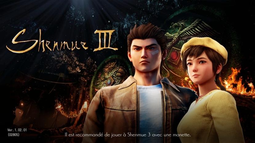 shenmue 3 ecran titre